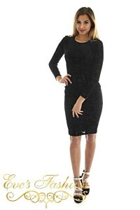Eleganza Dress Black Front