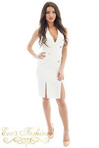Eve Exclusive Vivi Blazer Dress White Front