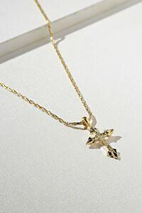 Vanessa Mooney The Gold Anastasia Cross Necklace Side
