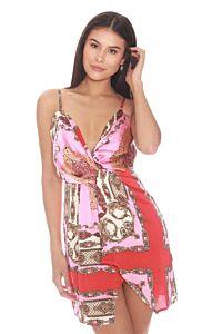 LA Sisters Twist Cami Dress Print