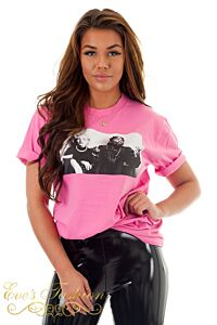 Eve Iconic Legends Tee Pink Close