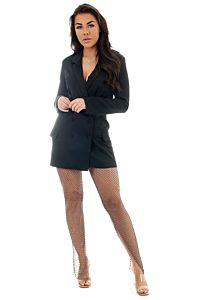 Eve Crystal Mesh Panty Black Front