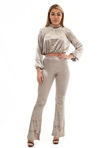 Glennis Velvet Two Piece Silver