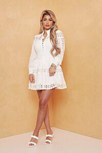Yacht Days Lace Dress Creme