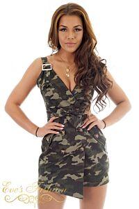 RUNAWAY Dora Dress Camo Front