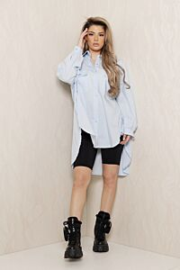 Eve Say When Oversized Blouse Dress Baby Blue Front
