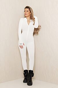 Eve Lucky Me Ribbed Jumpsuit White Front