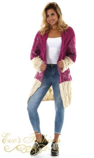 Eve Colorblock Vest Purple Front