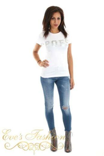POES Tshirt White / Silver