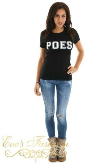 POES Tshirt Black Front