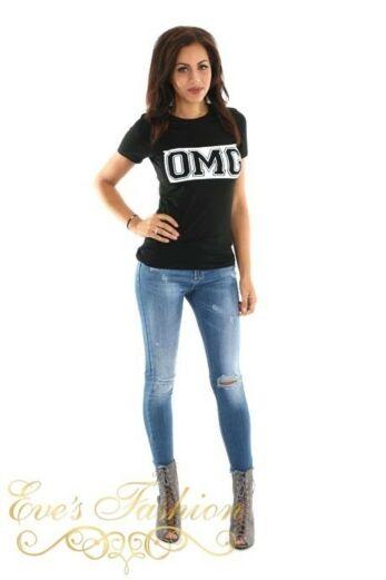 OMG Tshirt Black Front