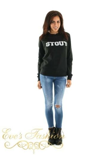 STOUT Sweater Black Front