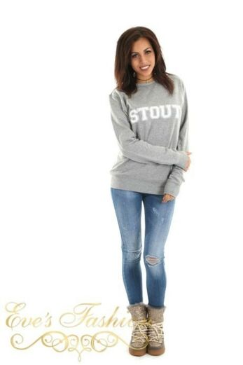 STOUT Sweater Grey Front