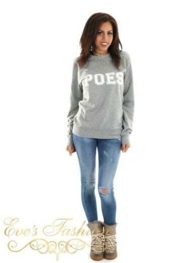 POES Sweater Grey Front