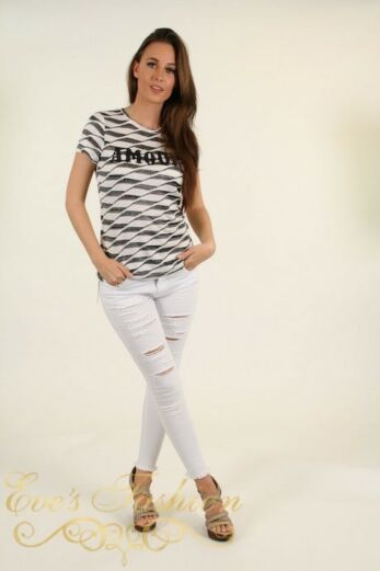 Amour Striped T Front