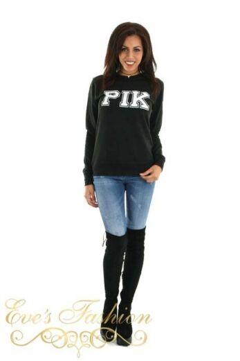 PIK Sweater Black Front