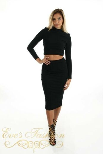 Reckless Skirt Black Front
