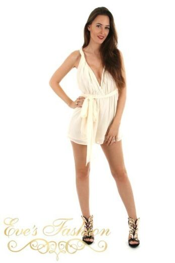 Jessica Playsuit Creme Front