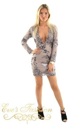 Vanessa Dress Grey Front