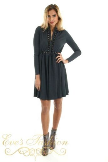 Sterre Dress Antraciet Front