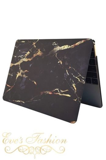 Marble Case Black/Gold Macbook