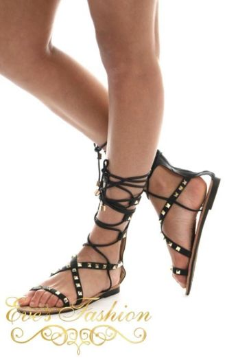 Gladiator Sandal Black