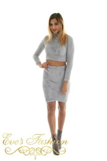 Fluffy Two Piece Grey Front