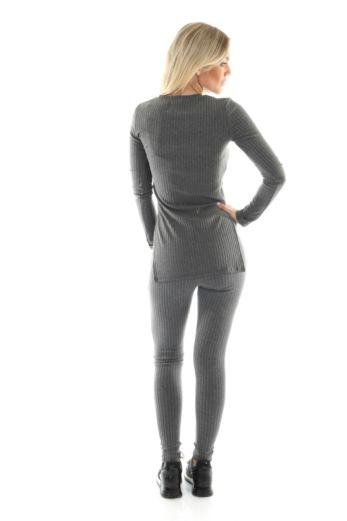V-Neck Sweater Dark Grey
