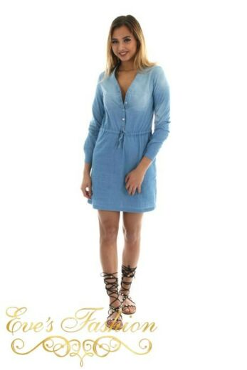 Tunic Blue Denim Front