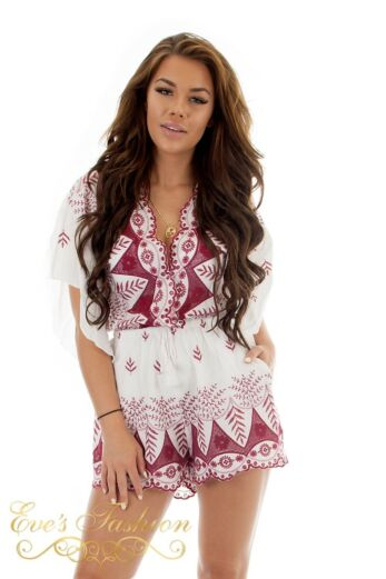 RUNAWAY Gemini Playsuit White Whine Close