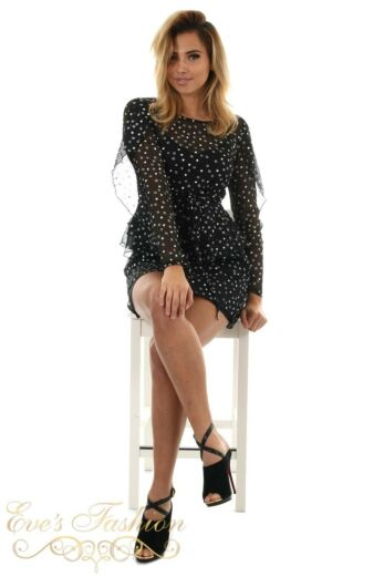 RUNAWAY Star Dress Black front