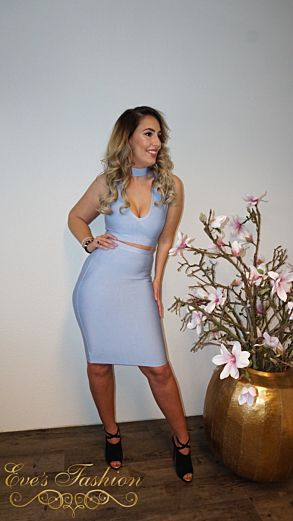 Luxury Bandage Two Piece Blue