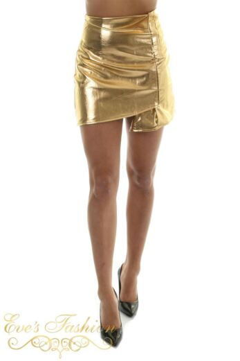 RUNAWAY Assasin Metalic Skirt Gold Close Front