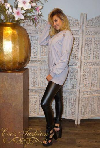Eve - Amina Sweater Dress Misty Grey