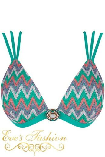 Iconic Triangel Top Smaragd Green Front