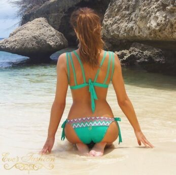 Boho Bikini - Iconic Triangel Top Smaragd Green
