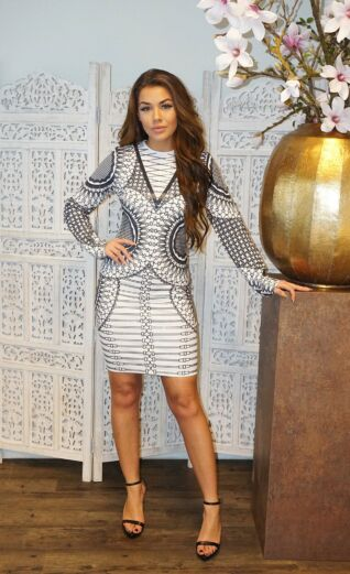 Gigi Sequin Dress Grey