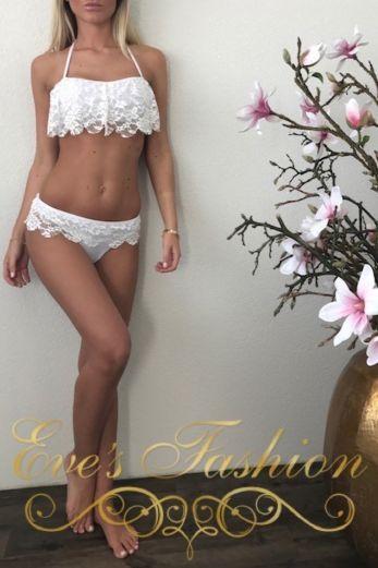 Candy Crochet Bikini White