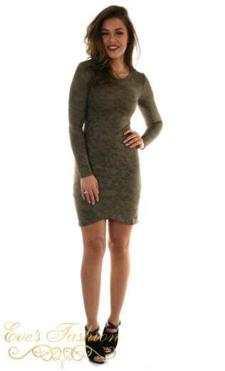 Jacky Luxury Faux Suede Camo Dress Front