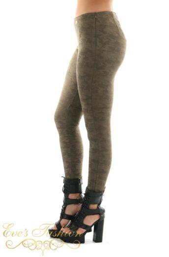 Jacky Luxury Faux Suede Camo Legging Side