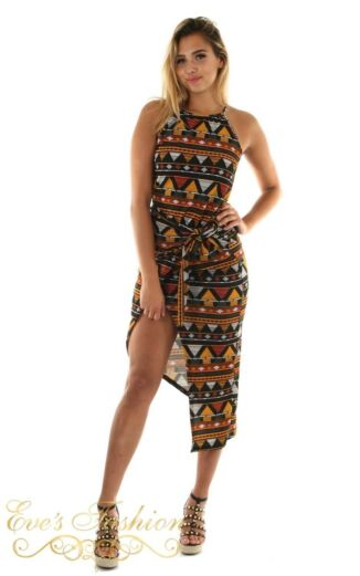 Eve African Knot Dress Front