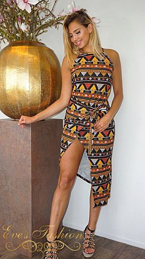 African Knot Dress