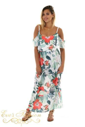 Eve Beachy Maxi Dress White Front