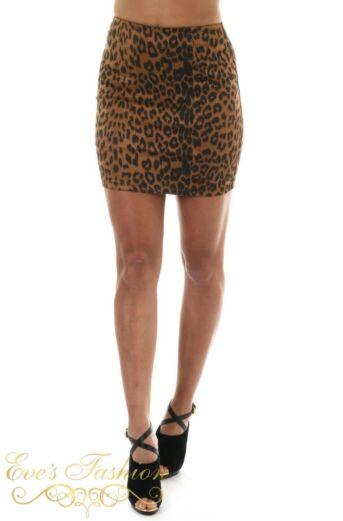 Eve Leopard Skirt Front