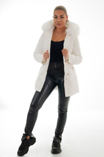 Eve Parka Snowy White Front
