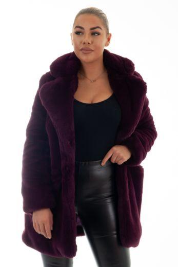 Chloe Coat Bordeaux