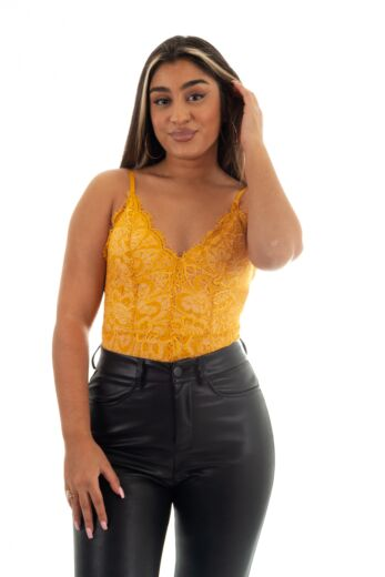 Eve Katy Lace Body Yellow Front