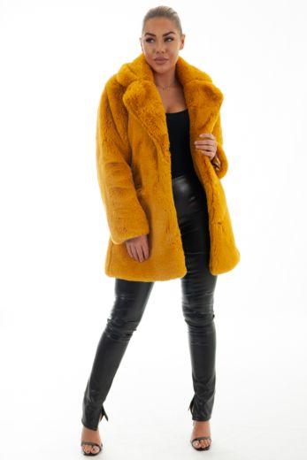Eve Chloe Coat Oker