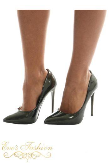 Sparkle Metallic Heels Dark Bronze