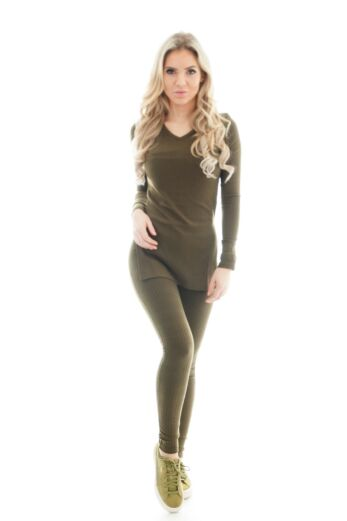 By Veer V-Neck Sweater Army Green Front